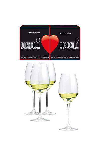 Riedel, Heart to Heart Riesling (3+1 copas)